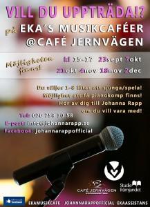 Musikcafé Vill du vara med Höst 2015